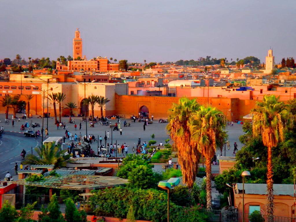 Город Марракеш в Марокко