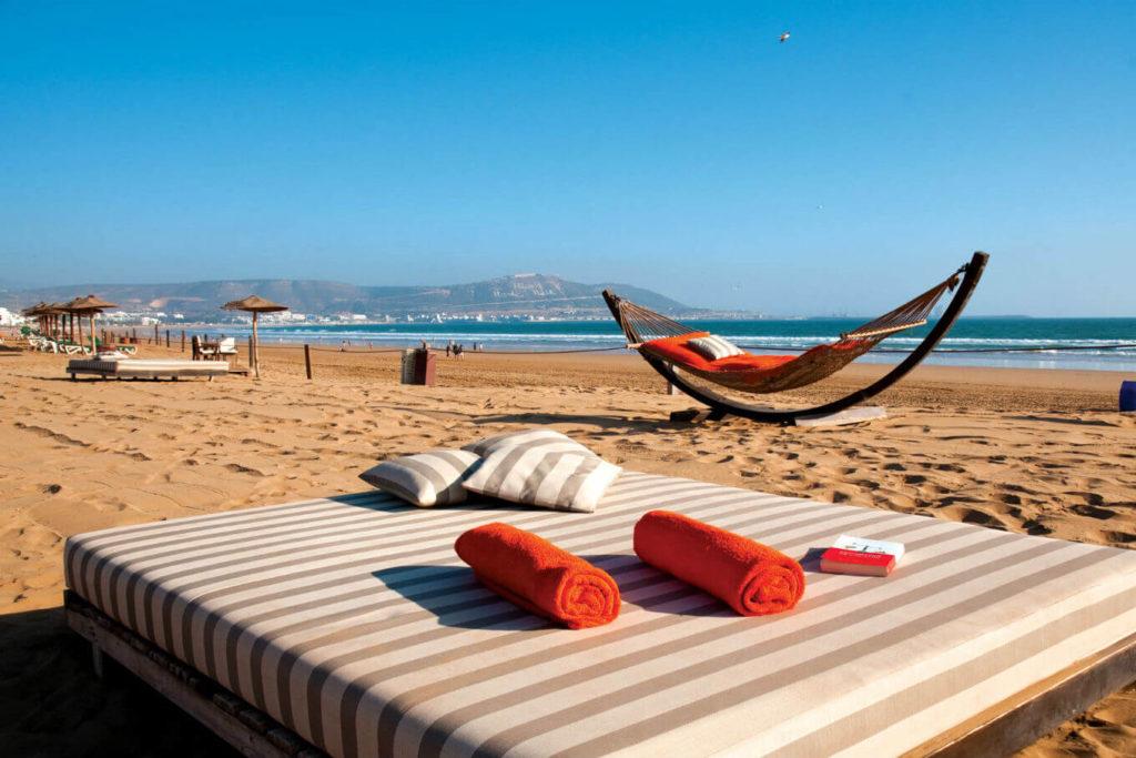 Пляж город Агадир Марокко