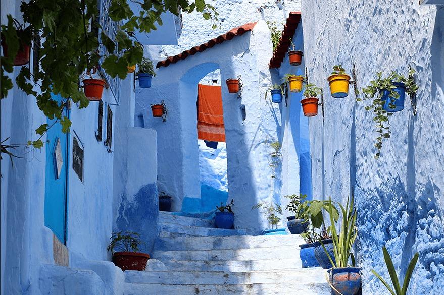 Шефшауэн город в Марокко