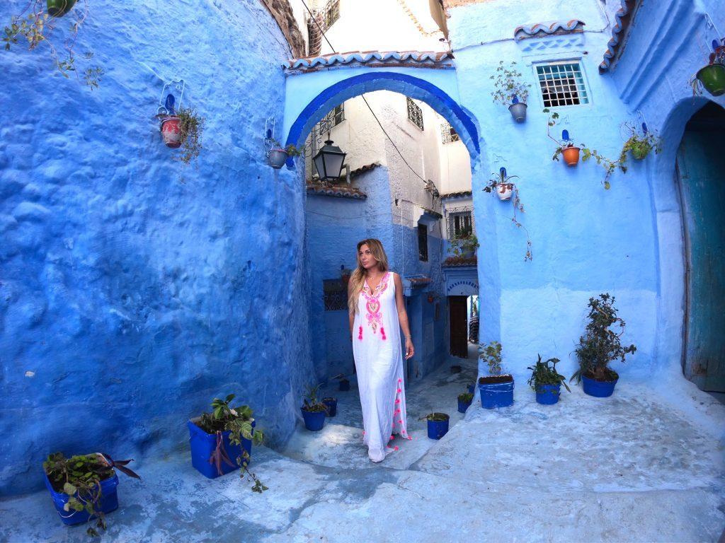 Шефшауэн синий город в Марокко