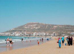 Пляж Агадир в Марокко