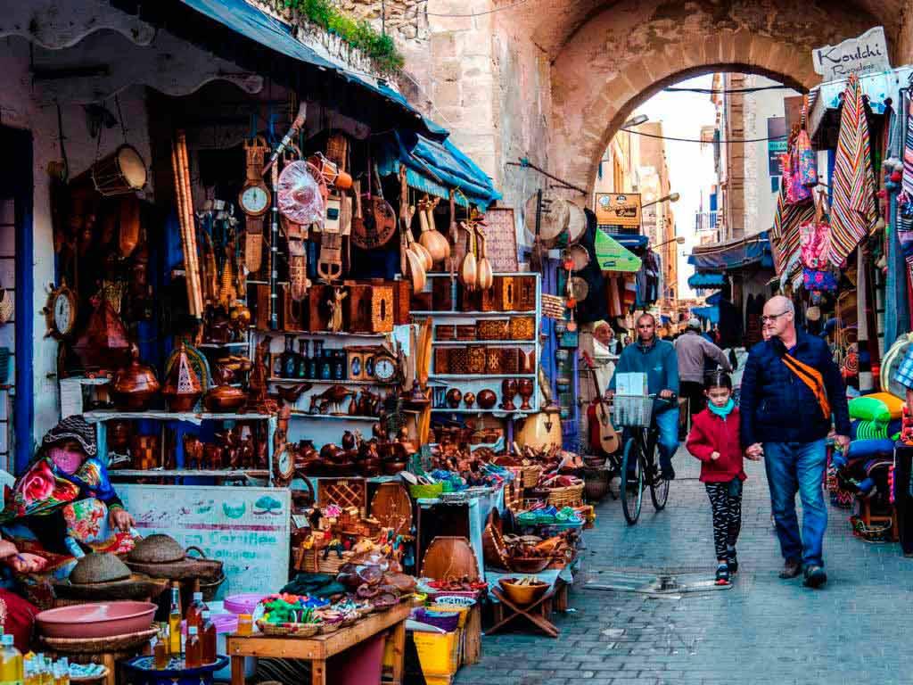 Улица в Эс-Сувейра город в Марокко
