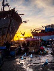 Рыбацкий порт в городе Эс-Сувейра