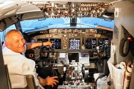 Кабина самолета Boeing 737-800