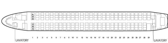 Схема самолета Boeing 737-800